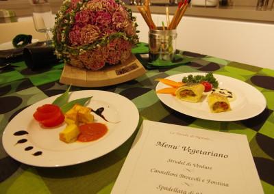 menù vegetariano Natalizio